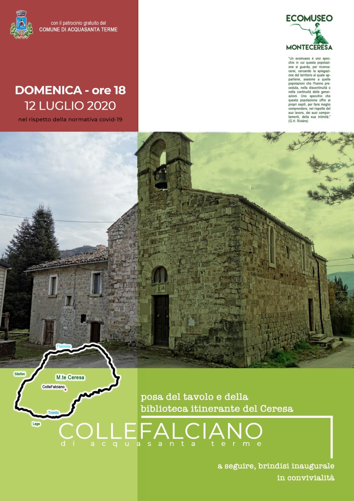 La biblioteca itinerante a Colle Falciano