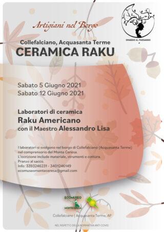 Laboratorio di ceramica Raku a Collefalciano